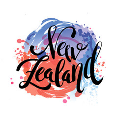 new zealand travel destination logo vector image
