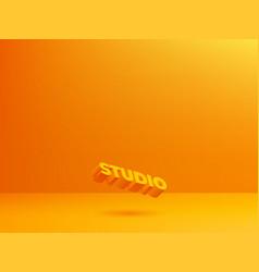 Orange studio background studio backdrop vector
