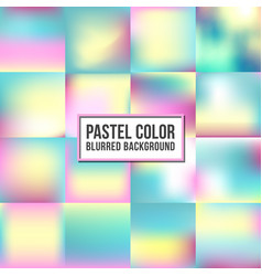 pastel color blurred background set sweet color vector image