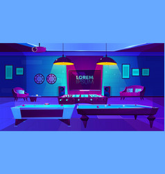 Recreation room for leisure in house basement vector