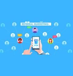 referral marketing banner vector image