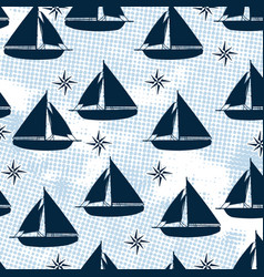 sailboat pattern texture design vector image
