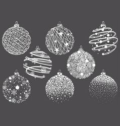 set abstract christmas balls vector image