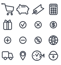 set of icons for online shop vector image