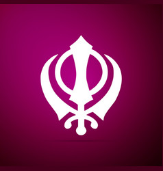 Sikhism religion khanda symbol icon isolated vector