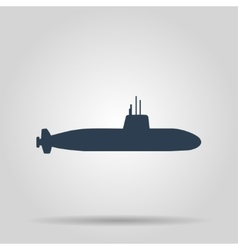 Simple icon submarine vector