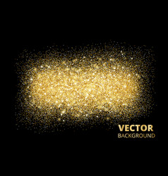 Sparkling glitter texture on black background vector