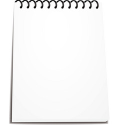 Spiral notebook stack ring binder isolated vector