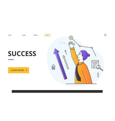 success and ambition in business or career concept vector image
