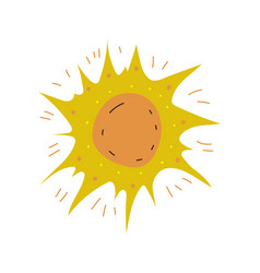 sun space design element cartoon vector image