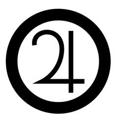 Symbol jupiter icon black color simple image vector