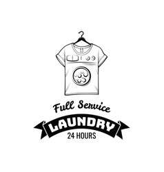 t-shirt machine concept laundry and dry cleaning vector image
