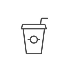 takeaway drink line icon vector image
