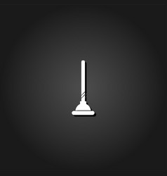 toilet plunger icon flat vector image