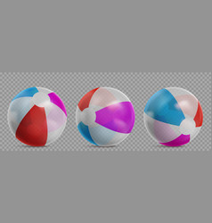 transparent inflatable beach balls for swim pool vector image