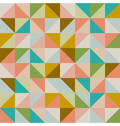 Trendy retro hipster geometric seamless pattern vector