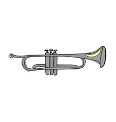 Trumpet instrument icon image vector