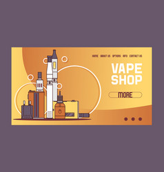 vapor pattern web page vaping device and vector image