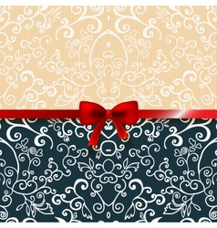 Vintage romantic background floral card vector image