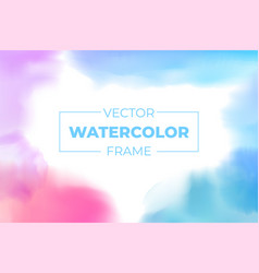 watercolor brush strokes frame with copy space vector image