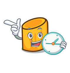 With clock rigatoni character cartoon style vector