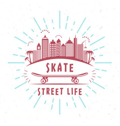 retro of skateboarding badge vector image vector image