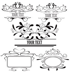 set of design elements 2 vector image