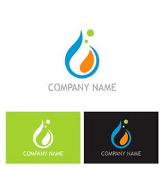 waterdrop abstract liquid logo vector image