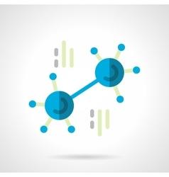 Blue molecule flat color icon vector image
