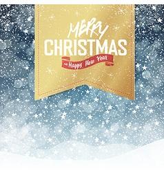 christmas falling snow card vector image vector image
