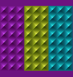 colorful geometric 3d patterns vector image vector image