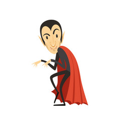 count dracula sneaking vampire in black suit and vector image