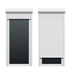 Door with roller shutters vector image vector image