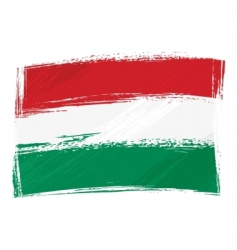 grunge Hungary flag vector image vector image