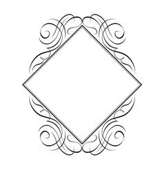 calligraphy diamond pattern vector image vector image