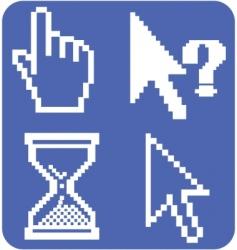 cursor signs vector image vector image
