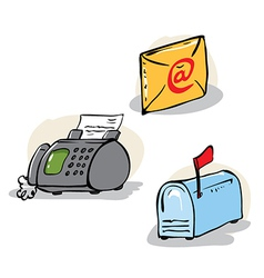 communication objects set vector image vector image