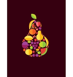 Pear From Fruit vector image vector image
