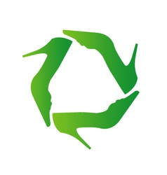 Recycle shoes- eco friendly concept vector image vector image