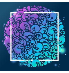 shiny glowing background vector image vector image