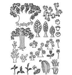 tree doodle vector image vector image