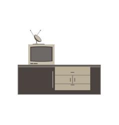 tv unit television icon furniture screen design vector image vector image