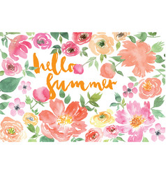 Watercolor flower summer vector image