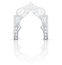Abstract background with arch in the Asian style vector