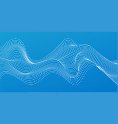 abstract colorful flowing wave lines design vector image