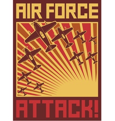 Air force attack poster vector