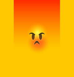 angry red yellow 3d smiley face phone background vector image