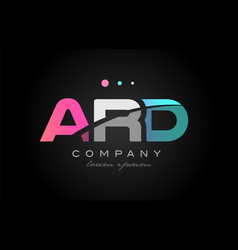 Ard a r d three letter logo icon design vector