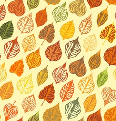 Autumn seamless leaves pattern vector