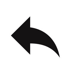 back arrow icon vector image